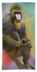 Colorful Mandrill Bath Towel