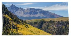 Bath Towel featuring the photograph Colorful Mountains Near Telluride by James Woody