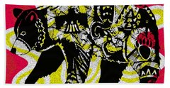 Colorful Native Black Bear Hand Towel