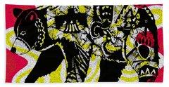 Colorful Native Black Bear Hand Towel by Ayasha Loya