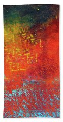 Hand Towel featuring the painting Colorful Night by Nancy Merkle