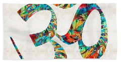 Colorful Om Symbol - Sharon Cummings Hand Towel
