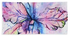 Bath Towel featuring the painting Colorful Orchid Flower by Saribelle Rodriguez