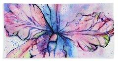 Colorful Orchid Flower Bath Towel