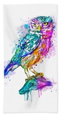 Colorful Owl Bath Towel