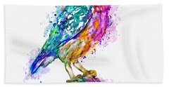 Colorful Owl Hand Towel