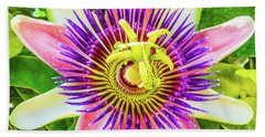 Colorful Passiflora Flower Of Bermuda Bath Towel