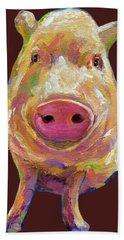 Colorful Pig Painting Bath Towel