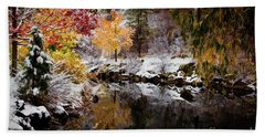 Colorful Pond Hand Towel