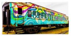 Colorful Rail Passenger Car Bath Towel
