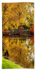 Colorful Reflections Bath Towel by Kristal Kraft