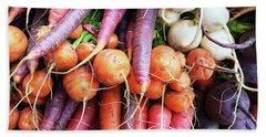 Colorful Root Vegetables Bath Towel