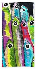 Colorful Sardines Hand Towel by Scott D Van Osdol