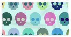 Colorful Skull Cute Pattern Bath Towel