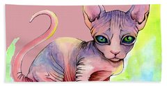 Colorful Sphynx Bath Towel