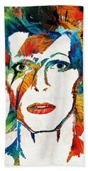 Colorful Star - David Bowie Tribute  Hand Towel