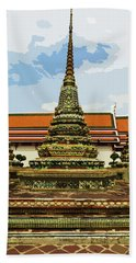 Colorful Stupas At Wat Pho Hand Towel