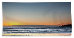 Colorful Sunset Over A Desserted Beach Bath Towel
