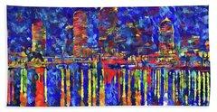 Colorful Tampa Bay Skyline Hand Towel