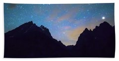 Bath Towel featuring the photograph Colorful Teton Night  by James BO Insogna