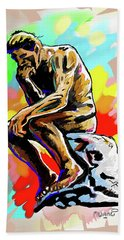 Colorful Thinker Hand Towel