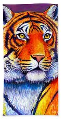 Fiery Beauty - Colorful Bengal Tiger Hand Towel