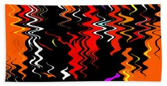 Colorful Trails Hand Towel by Kellice Swaggerty