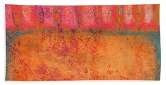 Colorful Tuscan Trees Bath Towel by Suzanne Powers