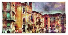 Colorful Venice Canal Hand Towel