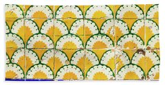 Colorful Vintage Portuguese Tiles Bath Towel