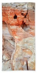 Hand Towel featuring the photograph Colorful Wall Of Sandstone In Valley Of Fire by Ray Mathis