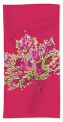 Colorful Watercolor Autumn Leaf Hand Towel