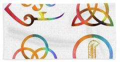 Colorful Zoso Symbols Hand Towel