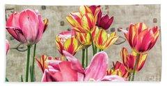 Colorfull Tulips Bath Towel