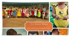 Colors And Smiles Of The Masai Bath Towel by Karen Lewis