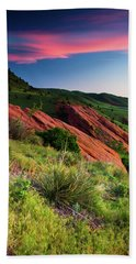 Hand Towel featuring the photograph Colors Of A Colorado Spring Sunrise by John De Bord