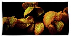 Hand Towel featuring the painting Colors Of Autumn Memories  by David Dehner