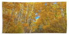 Hand Towel featuring the photograph Colors Of Fall by Darren White