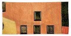 Bath Towel featuring the photograph Colors Of Liguria Houses - Facciatecolors Of Liguria Houses - Facciate Case Colori Di Liguria 1 by Enrico Pelos
