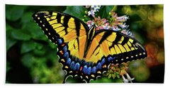 Bath Towel featuring the photograph Colors Of Nature - Swallowtail Butterfly 003 by George Bostian