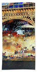 Colors Of Paris In The Summer Bath Towel by John Rivera