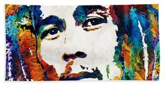 Colors Of Reggae - Bob Marley Tribute Bath Towel