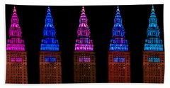 Colors Of The Terminal Tower Hand Towel