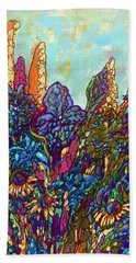 Hand Towel featuring the painting Colorwild by Rae Chichilnitsky