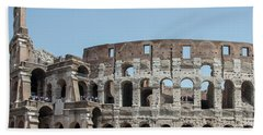 Colosseum In Rome Day  Hand Towel
