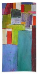 Bath Towel featuring the painting Colour Block7 by Chris Hobel