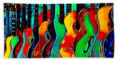 Hand Towel featuring the digital art Colour Of Music by Pennie McCracken