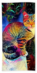 Colourful Calico Bath Towel