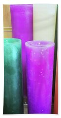 Colourful Candles Hand Towel