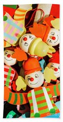 Colourful Character Clowns Hand Towel
